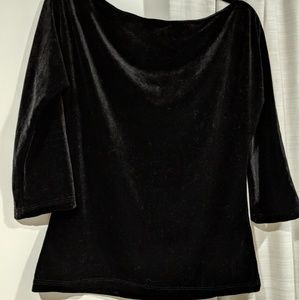 45c0a314e011d7 Pinup Couture Tops - Pinup girl clothing Lolita top black velvet